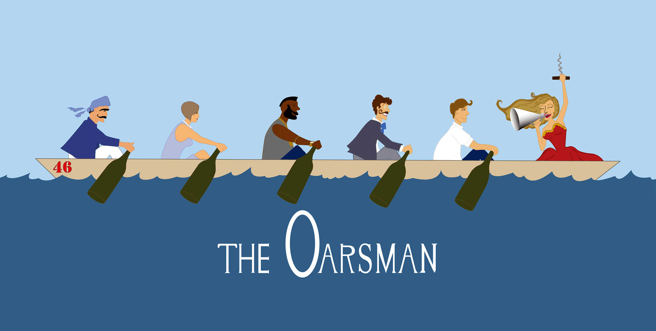 The Oarsman rowers illustration